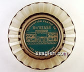 DeVille Casino, Convention Center Dr. Las Vegas, Nevada - White on green imprint Glass Ashtray
