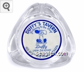 Duffy's Tavern, ''Gateway to the Strip'', Duffy, Open 24 Hours, 1815 So. 5th - Las Vegas - Nevada - Blue on white imprint Glass Ashtray