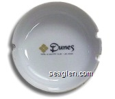 Dunes Hotel & Country Club, Las Vegas - Black and gold imprint Porcelain Ashtray