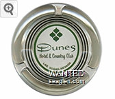 Dunes Hotel & Country Club, Las Vegas, Nevada - Green imprint Glass Ashtray