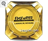 Edgewater, Hotel and Casino, Laughlin, Nevada - Black imprint Glass Ashtray