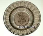 Edgewater Laughlin, Hotel & Casino, 800-634-6154, 702-298-2453 - Brown on white imprint Glass Ashtray