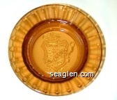 Laughlin, Edgewater Hotel & Casino - Molded imprint Glass Ashtray