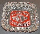 El Capitan Club - Nevada, Have Fun At Hawthorne & Elko - White on red imprint Glass Ashtray