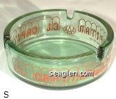 El Capitan Lodge & Casino, Hawthorne, Nevada, (With AAA & Best Western logos) - Red imprint Glass Ashtray