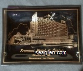Fremont Hotel & Casino, Casino Center, Downtown Las Vegas - Gold imprint Glass Ashtray