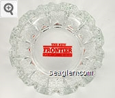 The New Frontier, Las Vegas, Nevada - Red imprint Glass Ashtray
