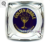 Golden Bubble, Gardnerville, Nevada - Yellow on blue imprint Glass Ashtray