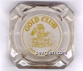 Gold Club, Sparks - Nevada - Yellow imprint Glass Ashtray