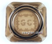 GC - Etched imprint Glass Ashtray