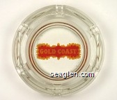 Gold Coast - Yellow and red imprint Glass Ashtray