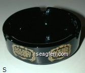 Golden Nugget - Gold imprint Glass Ashtray