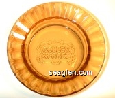 Golden Nugget - Molded imprint Glass Ashtray