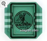 Friendly Casino, Las Vegas, Hacienda, Nevada - Black on white imprint Glass Ashtray