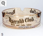 Harrah's Club, Reno and Lake Tahoe - Brown imprint Glass Ashtray