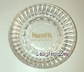 Harrah's, Reno Hotel Casino - Yellow imprint Glass Ashtray