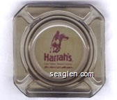 Harrah's, Lake Tahoe Resort Casino, Here's where it starts gettin' good… - Brown on beige imprint Glass Ashtray