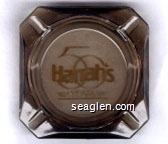 Harrah's 50 Years, 1937-1987 - Gold imprint Glass Ashtray