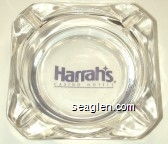 Harrah's, Casino Hotels - Purple imprint Glass Ashtray