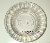 Harrah's, Casinos - Molded imprint Glass Ashtray