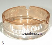 Harrah's Club, Reno and Lake Tahoe - White imprint Glass Ashtray