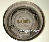 Harrah's 50 Years, 1937 1987 - Gold imprint Glass Ashtray