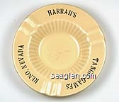Harrahs, Tango Games, Reno, Nevada - Gold imprint Porcelain Ashtray