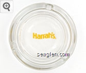 Harrah's - Yellow imprint Glass Ashtray