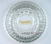 Harrah's, Lake Tahoe Resort Casino - Yellow imprint Glass Ashtray