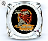 Harvey's Wagon Wheel South Shore . Lake Tahoe, Stateline, Nevada - Multicolor imprint Glass Ashtray