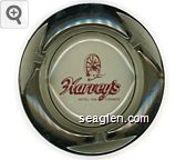 Harvey's Hotel - Inn, Casinos - Red imprint Glass Ashtray