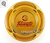 Harvey's 1944 40th 1984, Resort Hotel and Casino, Lake Tahoe - Red imprint Glass Ashtray