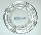 Harveys Resort Hotel / Casino - Lake Tahoe - Blue imprint Glass Ashtray