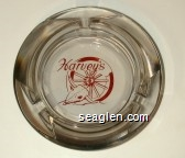 Harvey's - Red imprint Glass Ashtray