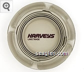 Harveys, Lake Tahoe - Maroon imprint Glass Ashtray