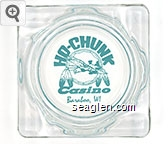 Ho-Chunk Casino, Baraboo, WI - Green imprint Glass Ashtray