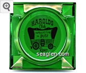 Harolds Club, Harolds Club or Bust, Reno - Red on white imprint Glass Ashtray