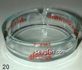 Harold's Club, Bourbon Street in Reno, Reno, Nevada - Red imprint Glass Ashtray
