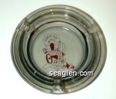 Harolds Club or Bust!, Reno - Red imprint Glass Ashtray