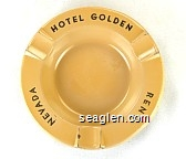 Hotel Golden, Reno, Nevada - Black imprint Metal Ashtray