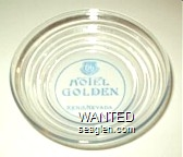 Hotel Golden, Reno Nevada - Blue imprint Glass Ashtray