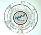 It's High Time, Del Webb's High Sierra,  Casino/Hotel - Red, black on white imprint Glass Ashtray