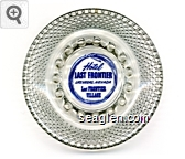 Hotel Last Frontier, Las Vegas, Nevada, Last Frontier Village - Blue imprint Glass Ashtray