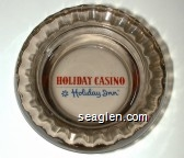 Holiday Casino, Holiday Inn - Red and blue imprint Glass Ashtray