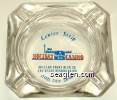 Center Strip, Holiday Casino, Holiday Inn, 3473 Las Vegas Blvd. So, Las Vegas, Nevada 89109, (702) 369-5000 - Blue and red imprint Glass Ashtray