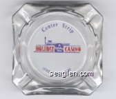 Center Strip, Holiday Casino, Holiday Inn, (702) 369-5000 - Blue and red imprint Glass Ashtray
