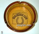 Bob Cashell's Horseshoe Club - Black imprint Glass Ashtray