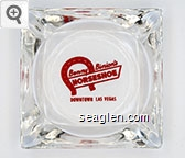 Benny Binion's Horseshoe, Downtown Las Vegas - Red imprint Glass Ashtray
