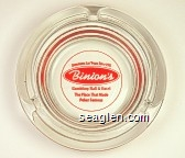 Downtown Las Vegas Since 1951, Binion's, Gambling Hall & Hotel, The Place That Made Poker Famous - Red imprint Glass Ashtray