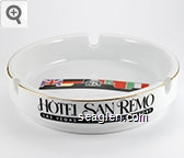 Hotel San Remo, Las Vegas - Casino and Resort - Black imprint Porcelain Ashtray